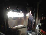 Ve Zlíně na Jižních Svazích hořel v panelovém domě balkón.