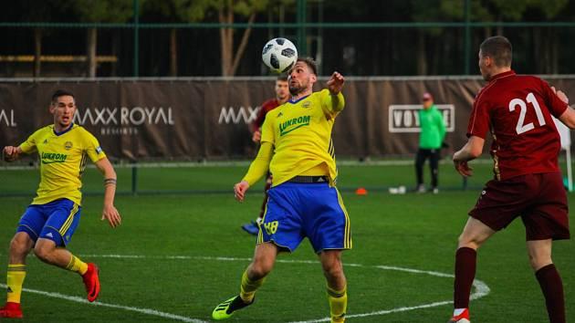 Fotbalisté Zlína v posledním přípravném zápase remizovali s ruskou Kazaní 0:0. Na snímku Tomáš Poznar.
