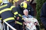 Požár v Domě s pečovatelskou službou v Napajedlech.