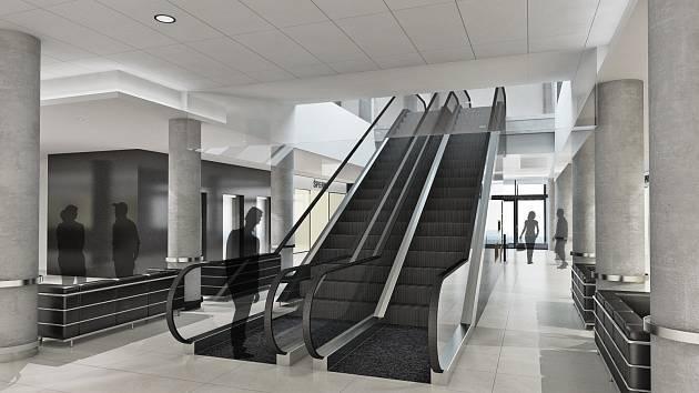 Eskalátor v obchodním domě.