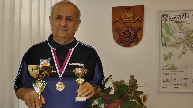 Jaroslav Kučera s vavříny.