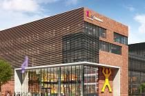 Vizualizace nového obchodního centra Fabrika