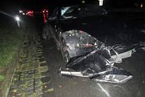 Nehoda tří vozidel blokovala dopravu z Březnice ve směru na Zlín