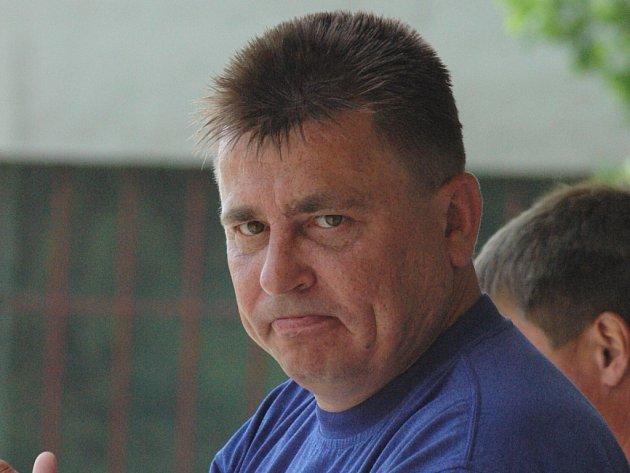 Trenér Ladislav Straka.