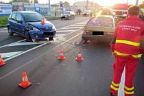 Srážka čtyř auta v Kvítkovicích