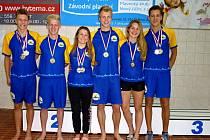 Medailisté Zlínského plaveckého klubu na MC Nového Jičína.