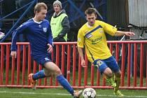 Viktoria (v modrém) porazila doma Zlín B 1:0.