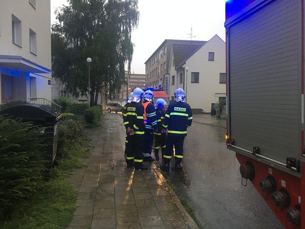 Přívalový déšť ve Zlíně, 26.8.2019