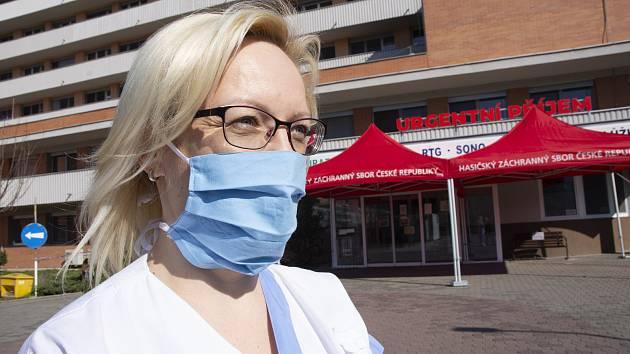 Vrchní sestra urgentního příjmu a koordinátorka odběrů ve zlínské nemocnici Monika Dlesková.
