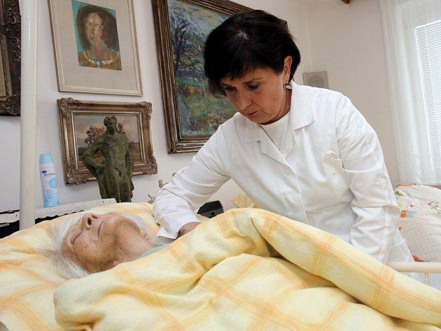 Domácí hospic ve Zlíně. Na snímku Eva Hegmonová.