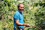 Farmář z Kukang Coffe Community.