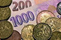 Peníze. Ilustrační foto.
