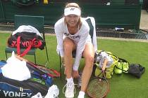 Renata Voráčová na Wimbledonu