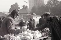 Zeleninový trh. Fotografie Jitky Kovandové.