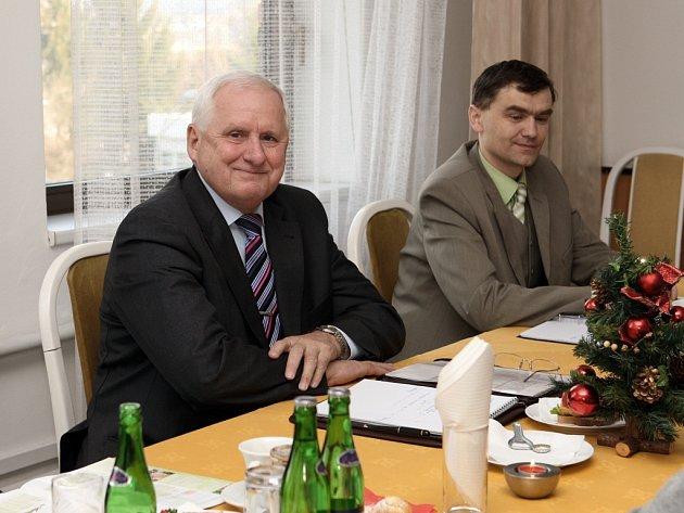 Generální ředitel Lázní Luhačovice Josef Krůžela (na snímku vlevo)