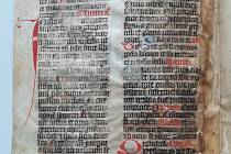 Rozluštění gotického pergamenu z muzejních sbírek.