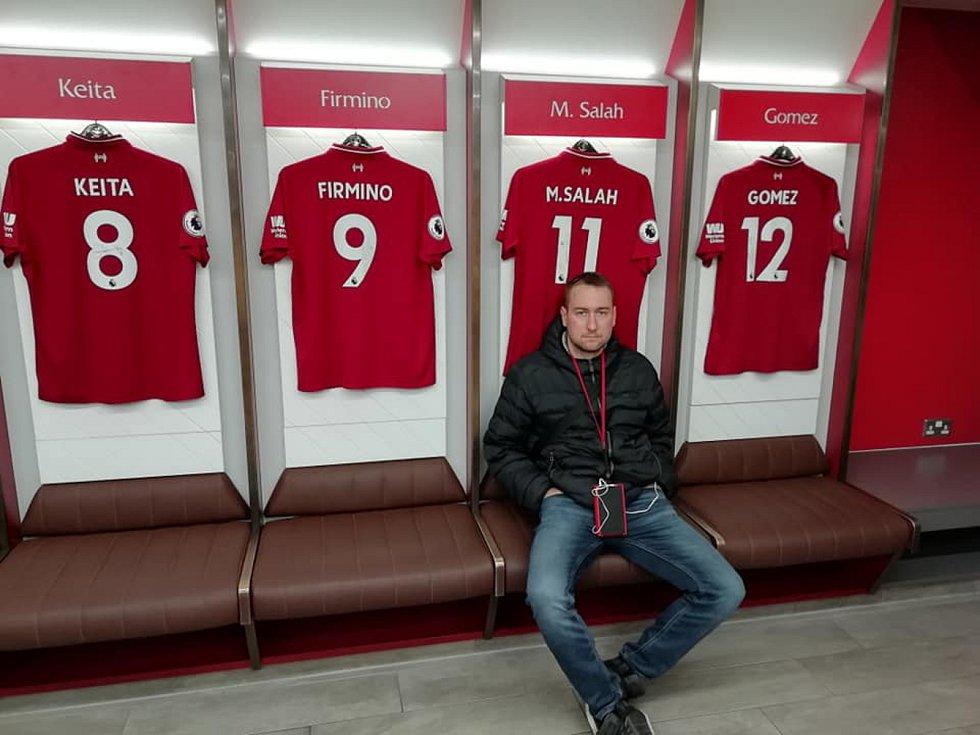 Záložník Hvozdné Jan Nahodil fandí anglickému Liverpoolu.