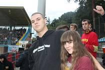 Fanoušci na zápase Fastav Zlín - Sparta Praha. Ilustrační foto