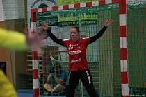 Zlínská brankářka Žaneta Stojarová musela proti bývalému klubu z Veselí nad Moravou skousnout porážku.