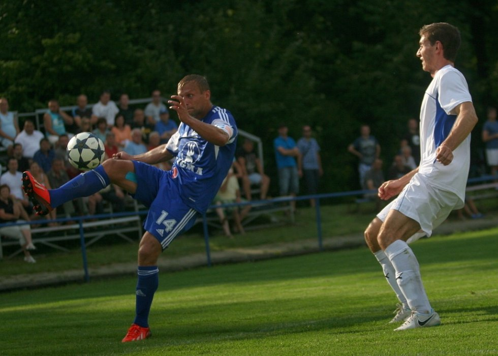 Fotbalisté divizního Slavičína vyzvali v poháru FAČR Sigmu Olomouc a prohráli 0:6.