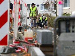 Rekonstrukce chodníku ve Zlíně