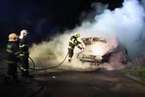 Požár felicie u Štípy