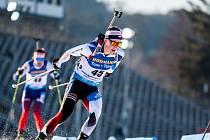 Jakub Štvrtecký ve Světovém poháru v biatlonu v Novém Městě na Moravě
