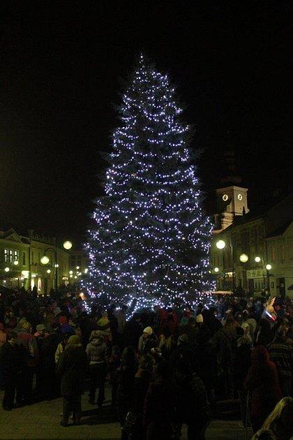 Vánoční strom v Holešově