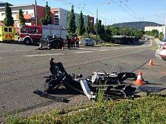 K dopravní nehodě došlo dnes ( v pátek) dopoledne ve Zlíně na Jižních Svazích.
