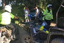 Policejní zátah v bělokarpatských lesích