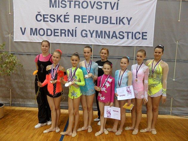 Moderní gymnastika. Zlínský tým
