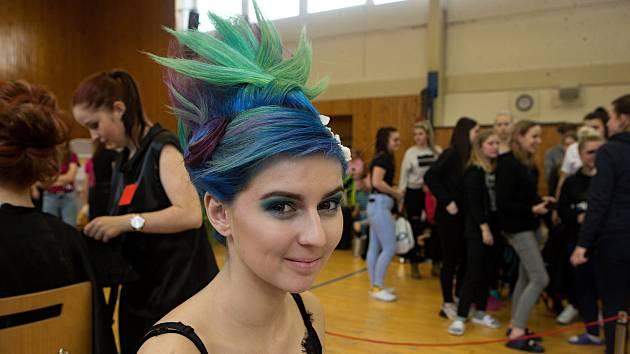 Soutěž kadeřníků a kosmetiček na Střední škole oděvní a služeb Vizovice