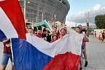 Bratři Jan a Dominik Zahnašovi navštívili nedělní duel v Budapešti, kde čeští fotbalisté  porazili Holandsko 2:0.