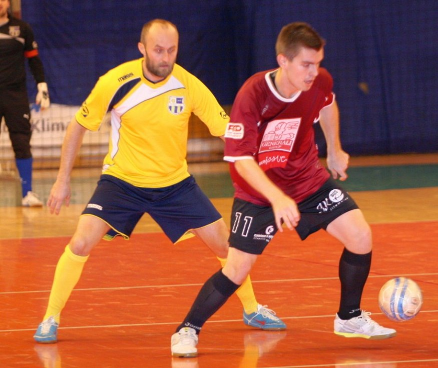 Sálový fotbal, I. liga, Zlín (žlutí) - Jilemnice.