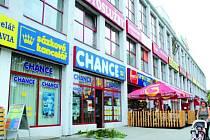 Přepadená sázková kancelář Chance ve Zlíně.