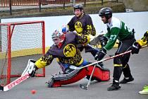 Foto z víkendových zápasů Moravské hokejbalové ligy Třebíč-Malenovice a Přibyslavice-Malenovice.