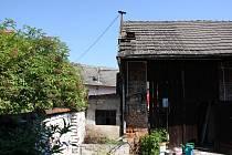 Požár střechy stodoly v Tlumačově