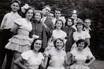 1945-1952. Karneval na Lázech koncem 40. let.
