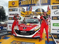 Cíl 38. ročníku Barum Rally ve Zlíně.