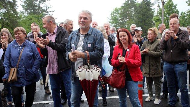 Celorepublikový protest za nezávislost justice ve Zlíně