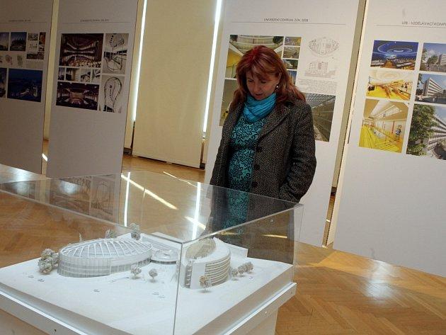 Výstava Kudy kam architektka Eva Jiřičná v galerii Alternativa ve Zlíně.