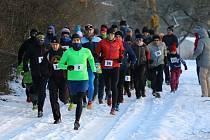 Běh na 2 míle ve Zlíně, leden 2017