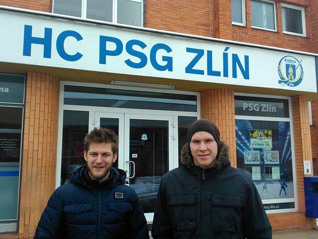 Odchovanci Havířova Jan Maruna (vlevo) a Robert Říčka si už ve Zlíně zabydleli.