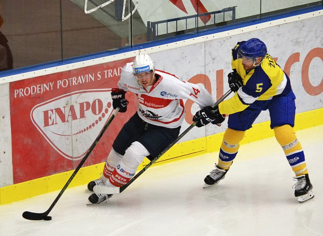 Hokejisté Aukro Berani Zlín proti Pardubicím