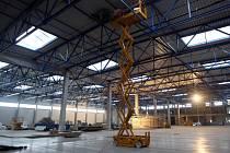 Stavba továrny Mitas v Otrokovicích