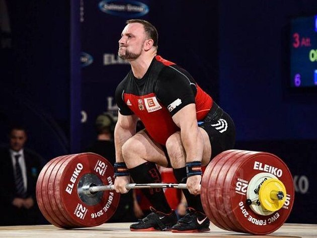 Jiří Orság, 27letý závodník v supertěžké váhové kategorii, to znamená nad 105 kilogramů