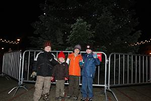 Rozsvěcování vánočního stromu v Otrokovicích.