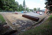 Poklepání základního kamene dostavby a rekonstrukce hasičské stanice ve ZlíněStavební místo