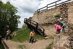 Hrad Lukov na Zlínsku, květen 2021