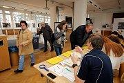 Druhé kolo prezidentských voleb 2018 ve Zlíně. volební okrsek č.1 Kolektivní dům